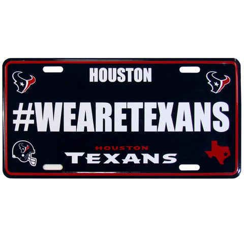 Houston Texans Stamped Aluminum License Plate #WEARETEXANS (NFL)