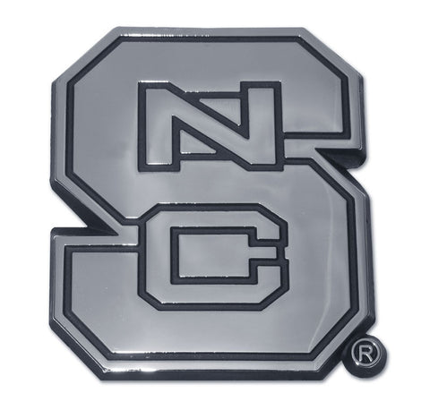 North Carolina State Wolfpack Chrome Metal Auto Emblem NCAA