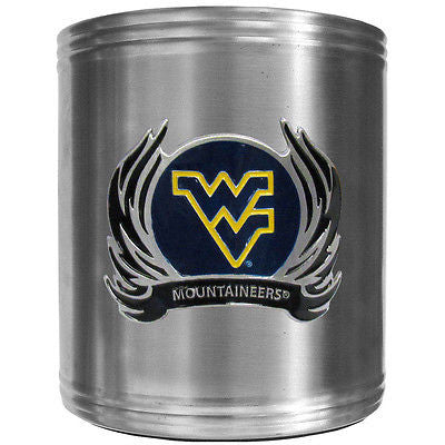 West Virginia Mountaineers Insulated Stainless Steel Can Cooler Coozie (Flames) (NCAA)