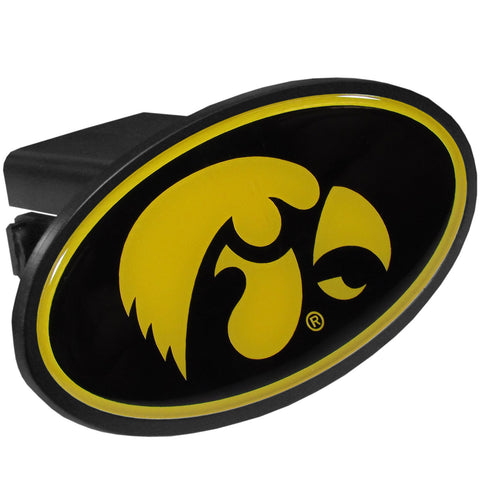 Iowa Hawkeyes Durable Plastic Oval Hitch Cover (NCAA)
