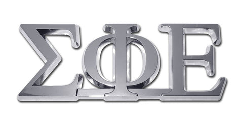 Greek Fraternity Sigma Phi Epsilon Chrome Auto Emblem