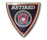 U.S. Marine Corps Chrome Auto Emblem (Retired Shield)