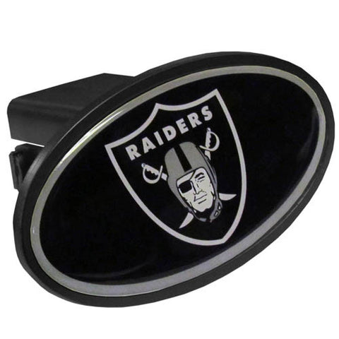 Oakland Raiders Durable Plastic Oval Hitch Cover (NFL)