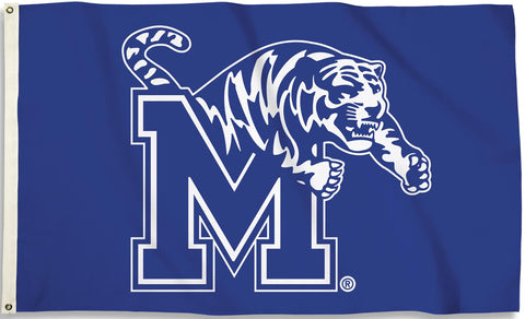 Memphis Tigers 3' x 5' Flag (Logo Only on Blue) NCAA