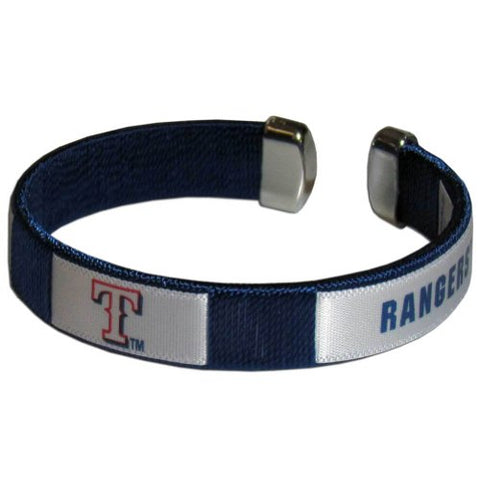 Texas Rangers Fan Band Bracelet MLB Licensed Baseball Jewelry