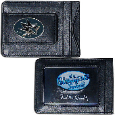 San Jose Sharks Fine Leather Money Clip (NHL) Card & Cash Holder