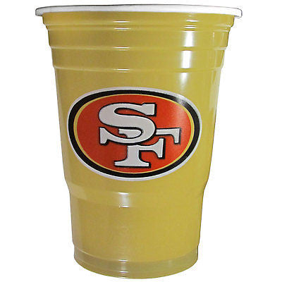 San Francisco 49ers 18 count 18 oz Disposable Plastic Cups (NFL)