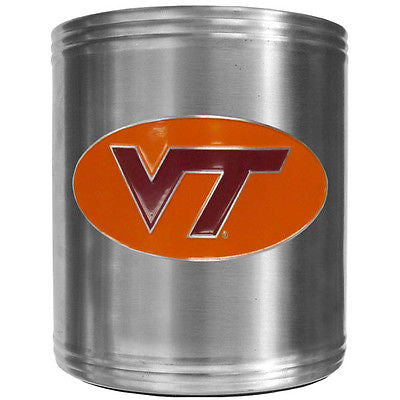 Virginia Tech Hokies Insulated Stainless Steel Can Cooler Coozie (NCAA)