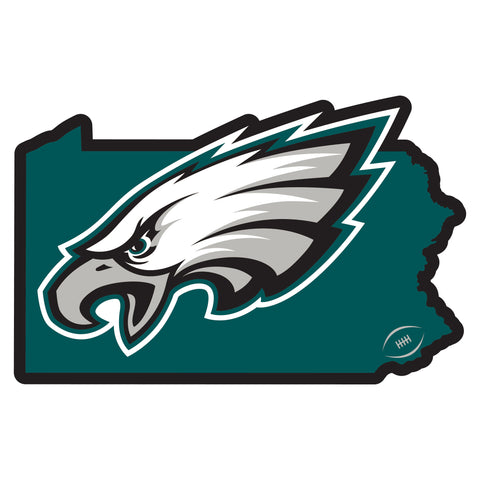 Philadelphia Eagles Home State Magnet (NFL) Pennsylvania Shape