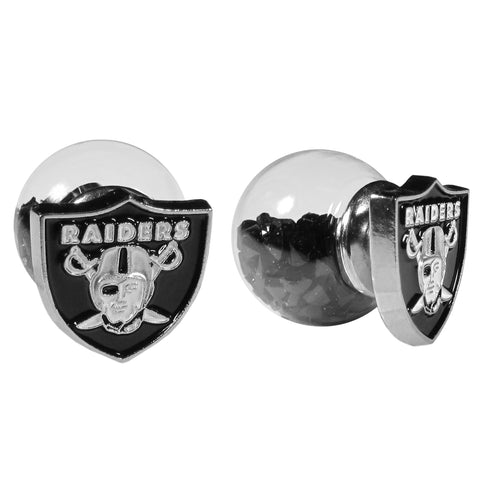 Oakland Raiders Front/Back Earrings (NFL)
