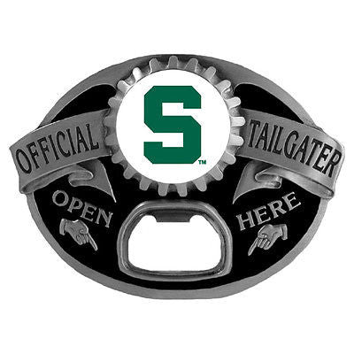 Michigan State Spartans Tailgater Belt Buckle with Bottle Opener (NCAA)
