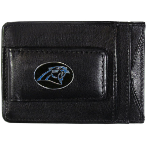 Carolina Panthers Fine Leather Money Clip (NFL) Card & Cash Holder