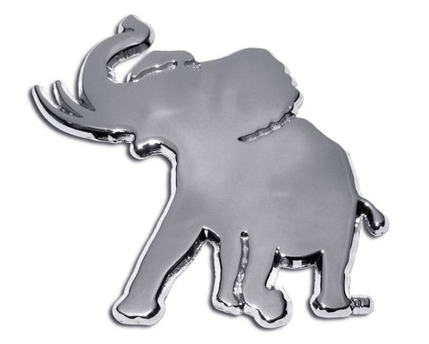 Alabama Crimson Tide Chrome Metal Auto Emblem (Pachyderm Elephant) NCAA