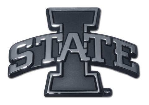 Iowa State Cyclones Chrome Metal Auto Emblem (I-State) NCAA