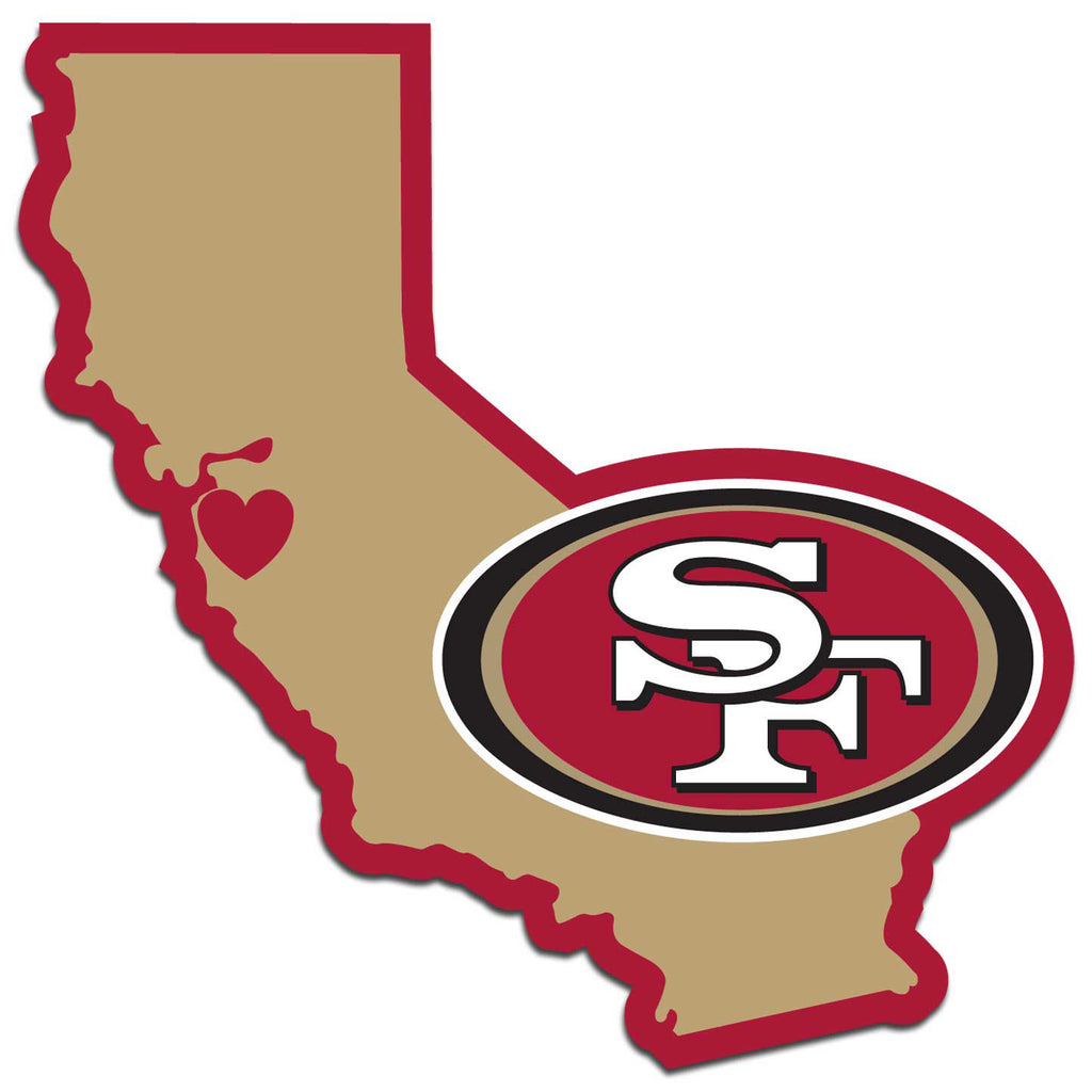 ef99b3e169c San Francisco 49ers Home State Vinyl Auto Decal (NFL) California Shape