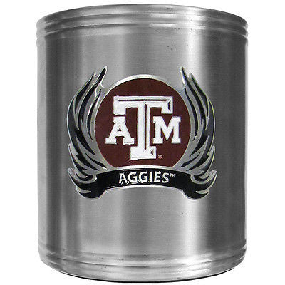 Texas A&M Aggies Insulated Stainless Steel Can Cooler Coozie (Flames) (NCAA)