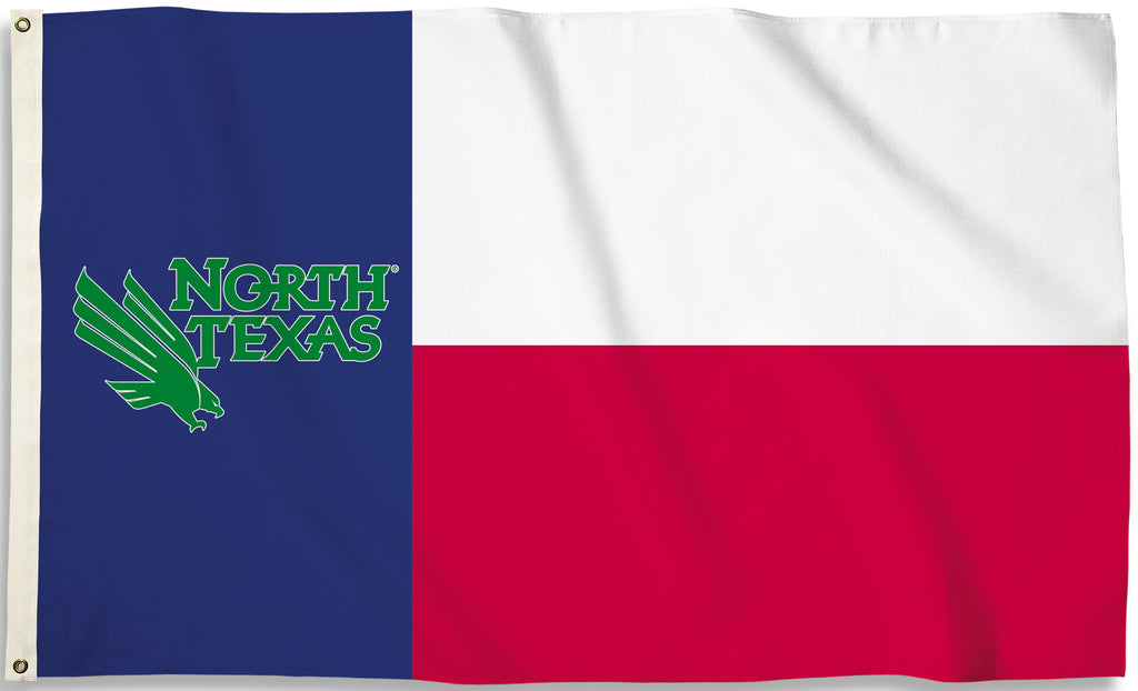 North Texas Mean Green 3' x 5' Flag (State of Texas) NCAA