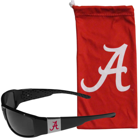 Alabama Crimson Tide Chrome Wrap Sunglasses with Microfiber Bag (NCAA)