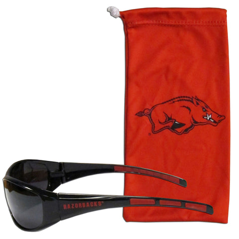 Arkansas Razorbacks Wrap Sunglasses with Microfiber Bag (NCAA)