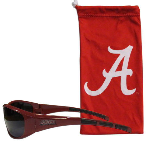Alabama Crimson Tide Wrap Sunglasses with Microfiber Bag (NCAA)