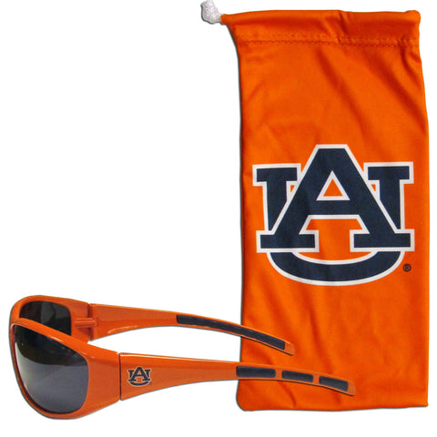 Auburn Tigers Wrap Sunglasses with Microfiber Bag (NCAA)