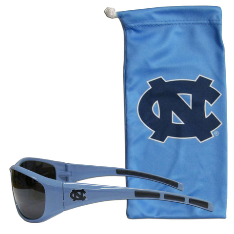 North Carolina Tar Heels Wrap Sunglasses with Microfiber Bag (NCAA)
