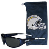 Los Angeles Chargers Wrap Sunglasses with Microfiber Bag (NFL)