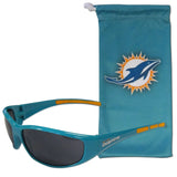 Miami Dolphins Wrap Sunglasses with Microfiber Bag (NFL)
