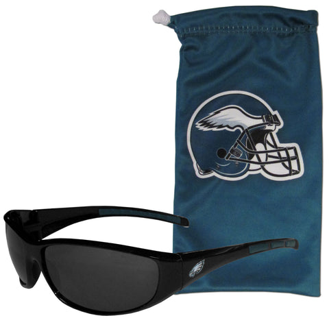 Philadelphia Eagles Wrap Sunglasses with Microfiber Bag (NFL)