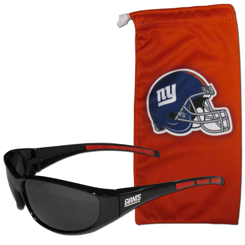 New York Giants Wrap Sunglasses with Microfiber Bag (NFL)