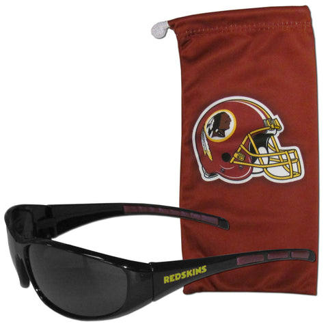 Washington Redskins Wrap Sunglasses with Microfiber Bag (NFL)
