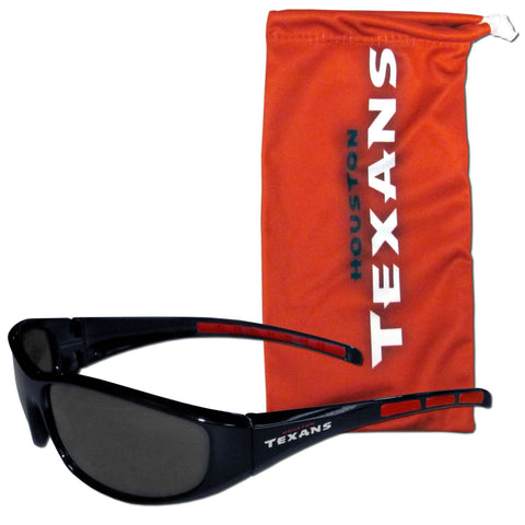 Houston Texans Wrap Sunglasses with Microfiber Bag (NFL)