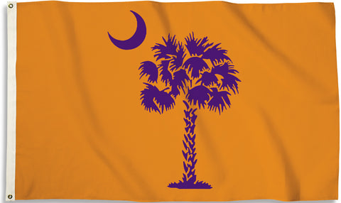 Clemson Tigers 3' x 5' Flag (South Carolina State Flag Palmetto) NCAA