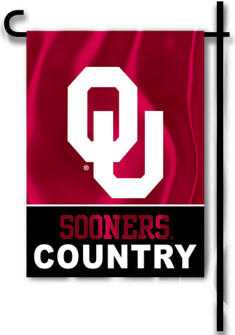 "Oklahoma Sooners 13"" x 18"" Two Sided Garden Flag (Sooners Country) NCAA"