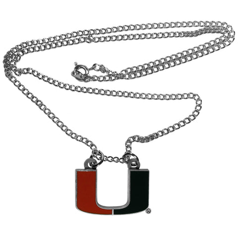"Miami Hurricanes 22"" Chain Necklace (NCAA) LG Turnover Chain"