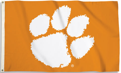 Clemson Tigers 3' x 5' Flag (Logo Only On Orange) NCAA