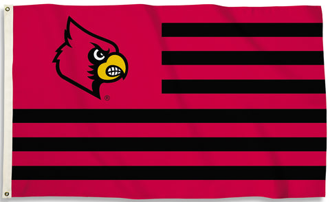 Louisville Cardinals 3' x 5' Flag (Stripes) NCAA