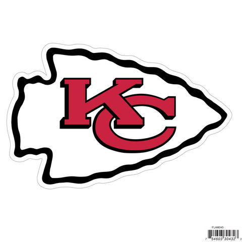 Kansas City Chiefs Licensed Outdoor Rated Magnet (NFL) Football