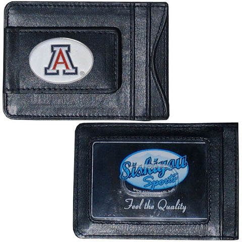 Arizona Wildcats Fine Leather Money Clip (NCAA) Card & Cash Holder