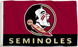 Florida State Seminoles 3' x 5' Flag (Logo w/ Wordmark) NCAA