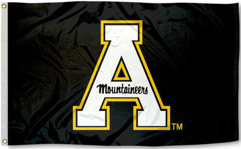 Appalachian State Mountaineers 3' x 5' Flag (Logo Only on Black) NCAA