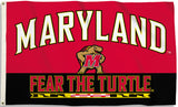 Maryland Terrapins 3' x 5'  Flag (Fear The Turtle) NCAA