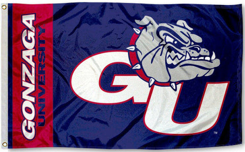 Gonzaga Bulldogs 3' x 5' Flag (Logo w/ Wordmark) NCAA