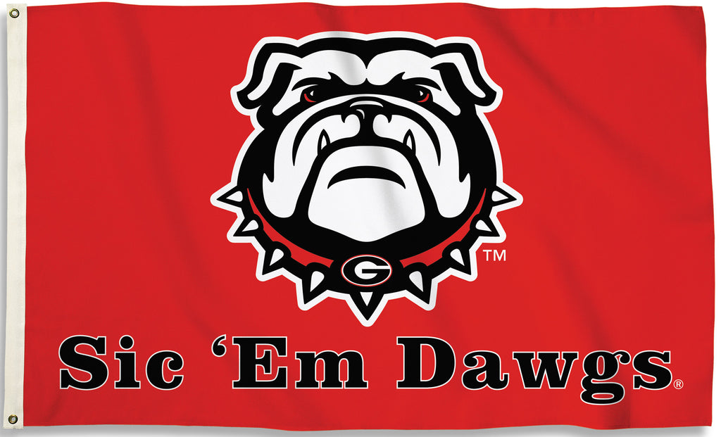 Georgia Bulldogs 3' x 5' Flag (New Sic 'Em Dawgs) NCAA