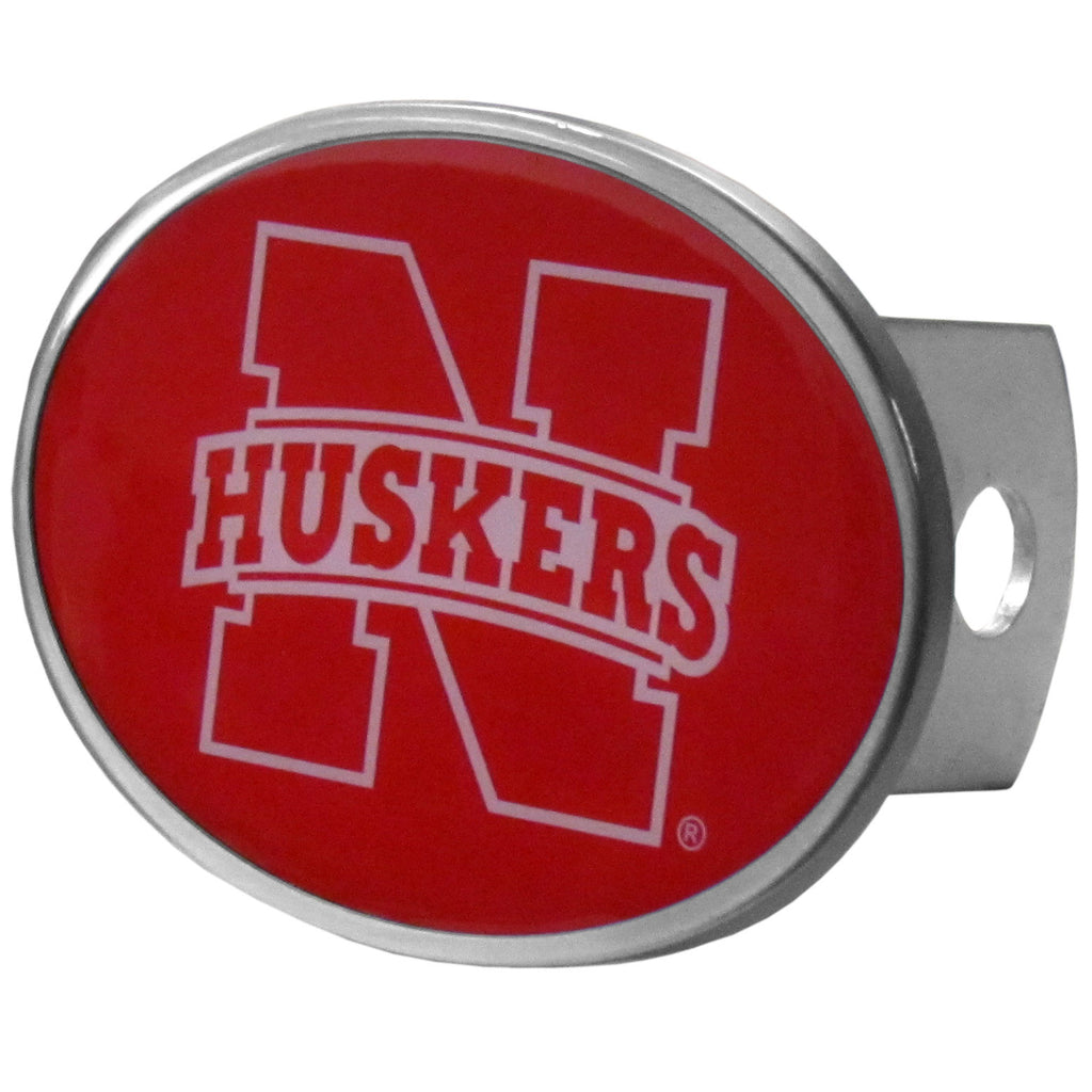 "Nebraska Cornhuskers Metal Oval Hitch Cover (""N"" with Huskers) NCAA"
