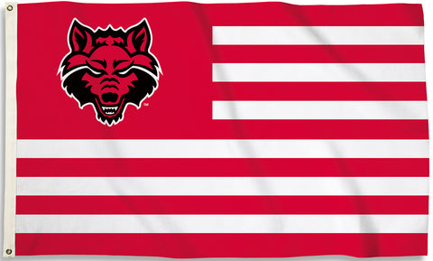 Arkansas State Red Wolves 3' x 5' Flag (Stripes) NCAA