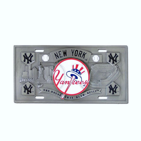 New York Yankees 3D Collector's License Plate (MLB Baseball)