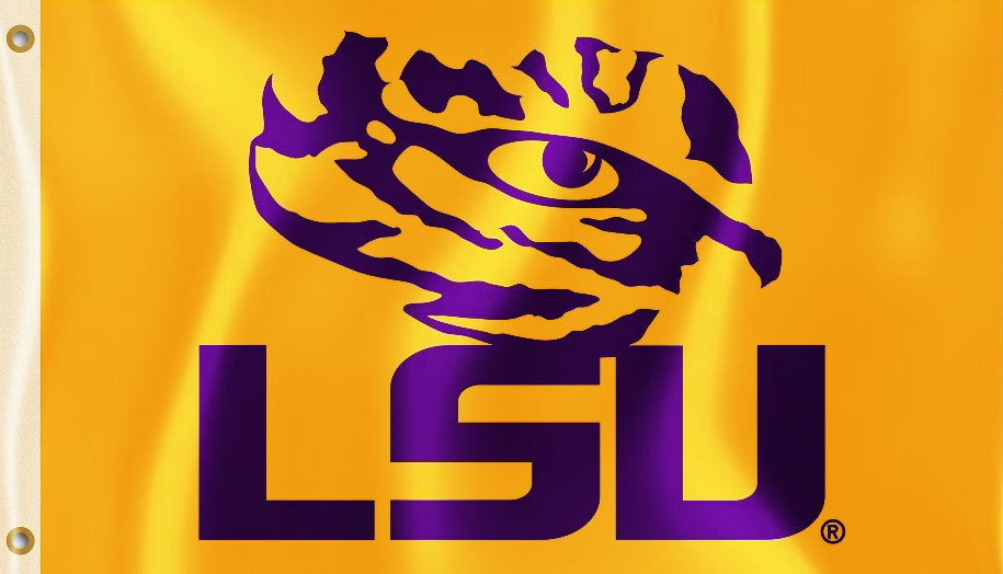 LSU Tigers 3' x 5' Flag (Logo Only on Gold) NCAA