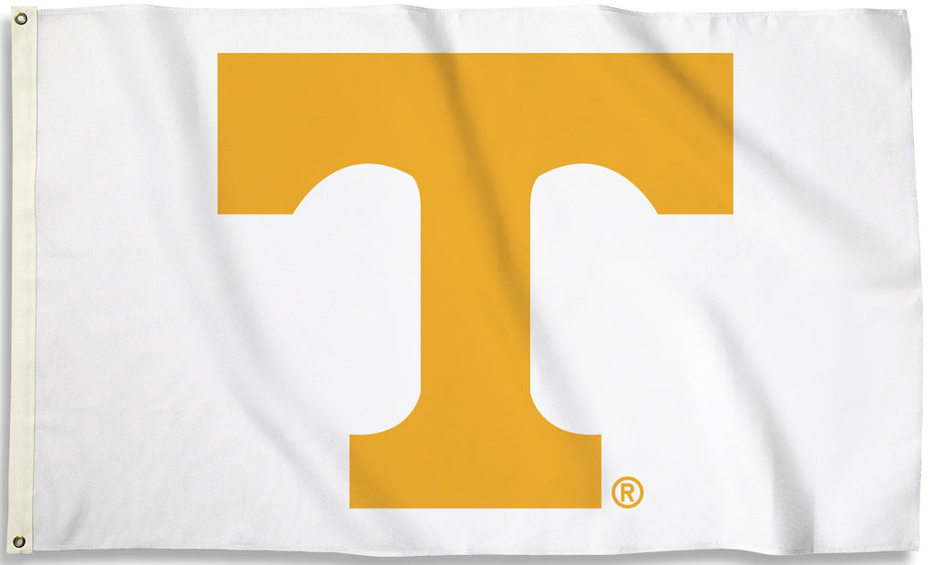 Tennessee Volunteers 3' x 5' Flag (Logo Only on White) NCAA