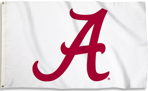 "Alabama Crimson Tide 3' x 5' Flag (Script ""A"" on White) NCAA"